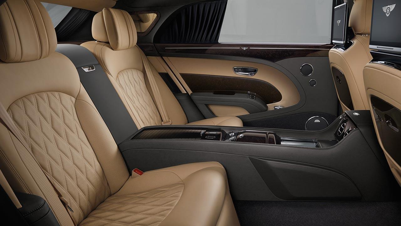 Bentley Mulsanne - luxuriöse Rücksitze