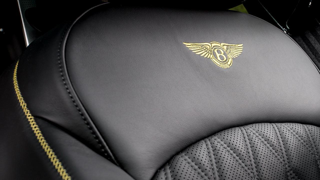 Bentley Mulsanne Speed - gesticktes Logo