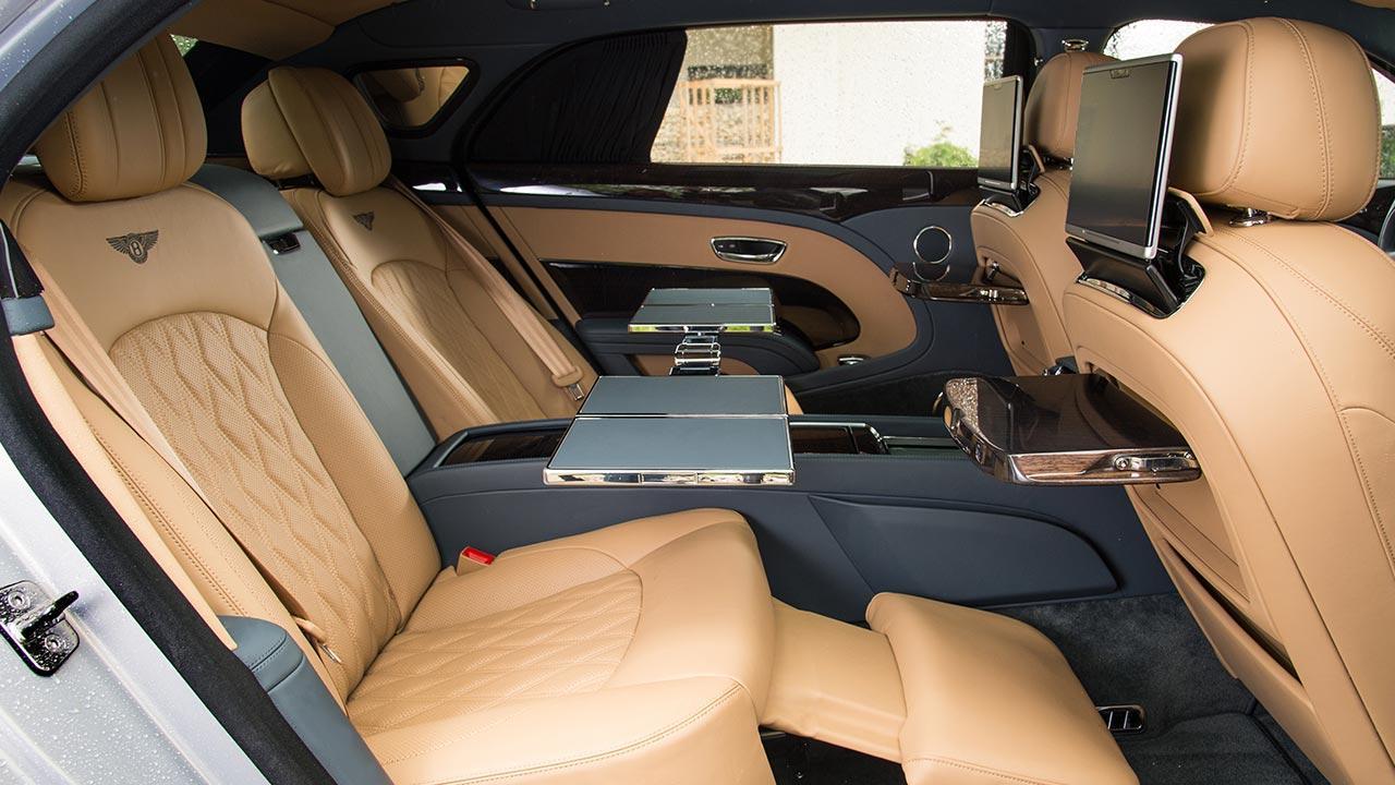 Bentley Mulsanne Extended Wheelbase - Rücksitz Büro