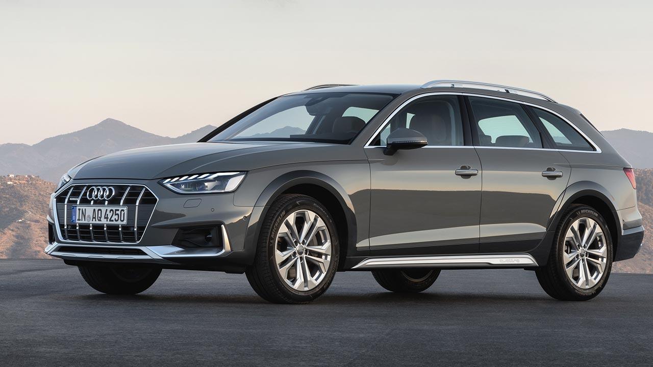 Audi A4 allroad quattro - seitliche Frontansicht