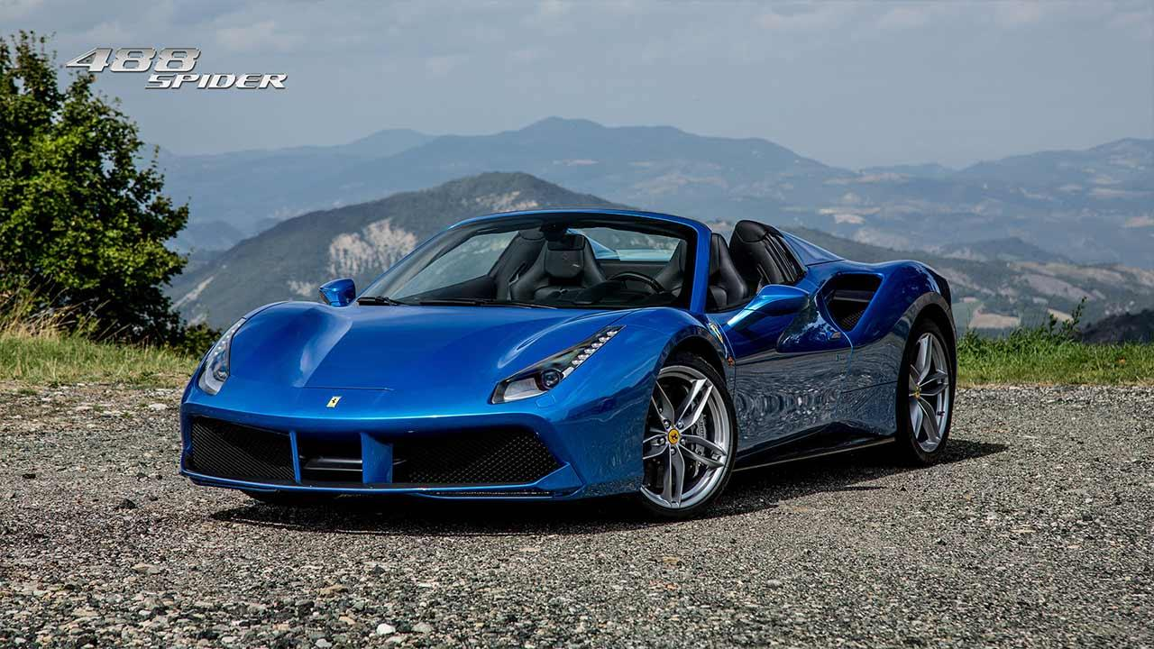 Ferrari 488 Spider - in blau