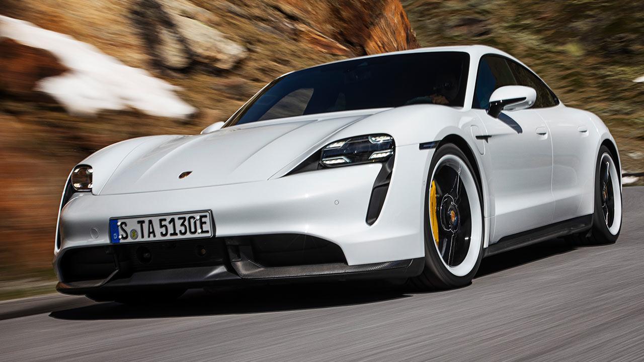 Porsche Taycan Turbo S - in den Bergen