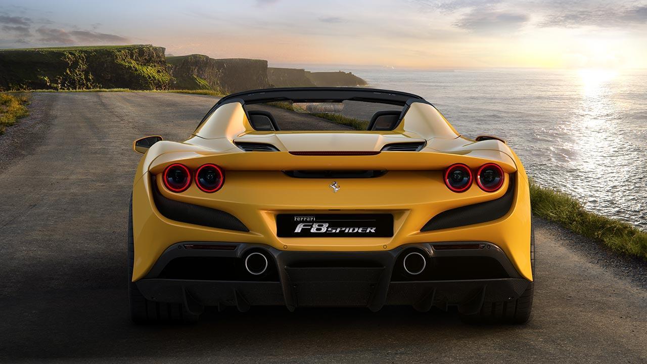 Ferrari F8 Spider - Heckansicht