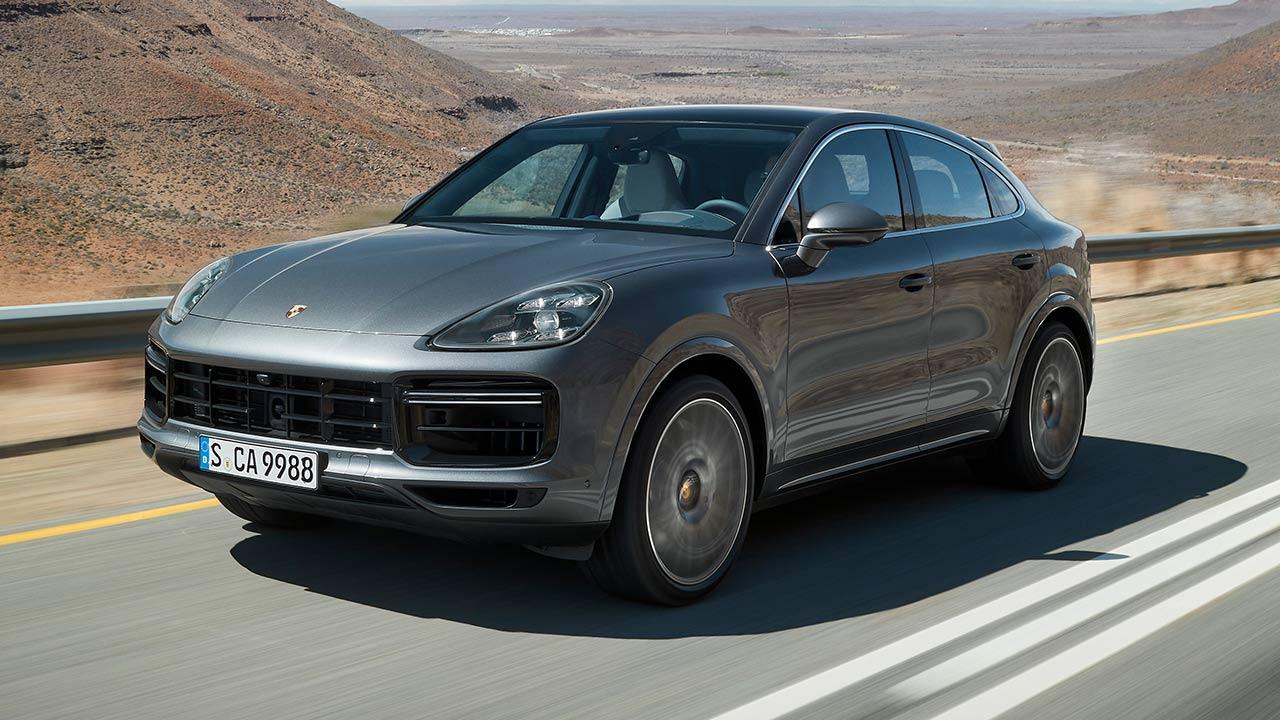 Porsche Cayenne Turbo Coupé - in voller Fahrt