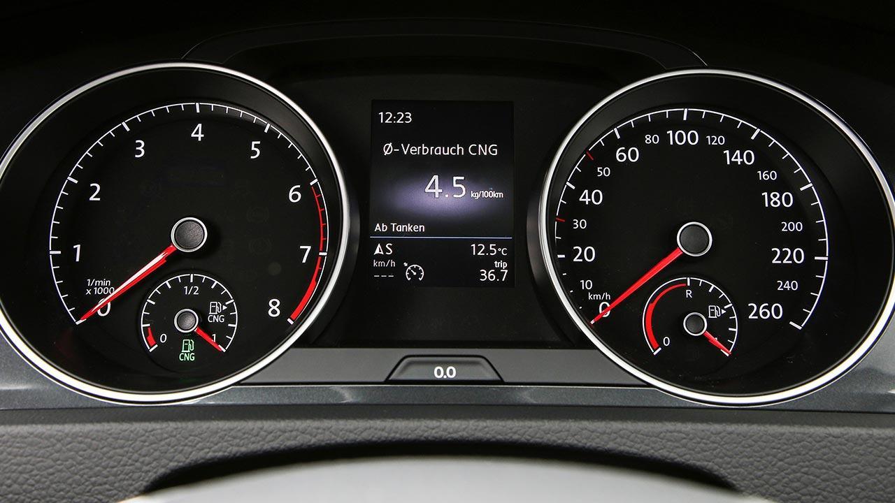 Volkswagen Golf VII TGI - Instrumente