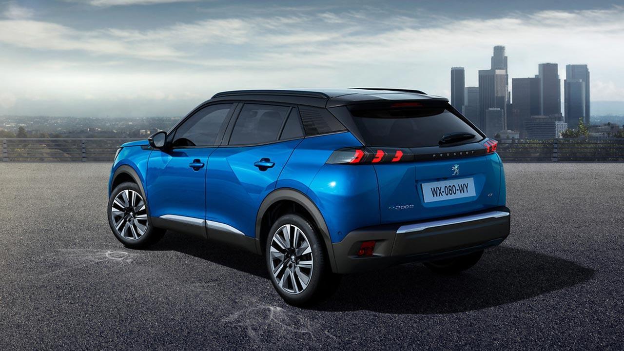 Peugeot e-2008 - in blau