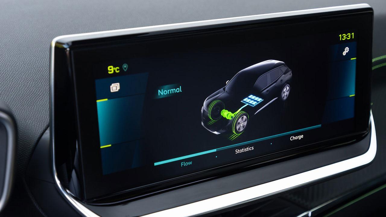 Peugeot e-2008 - Bildschirm