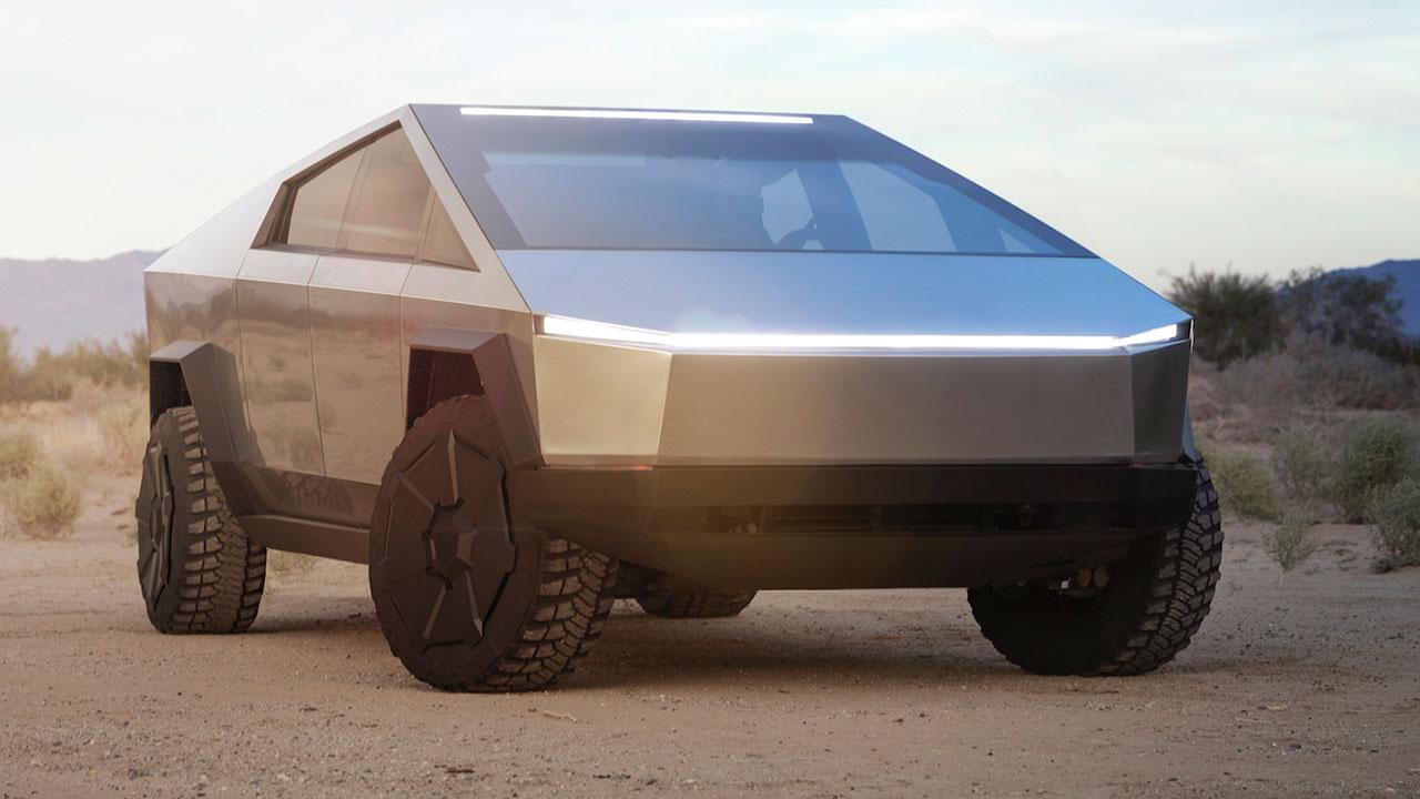 Tesla Cybertruck - in der Wüste