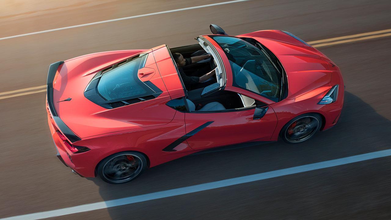 Chevrolet Corvette Stingray - Vogelperspektive