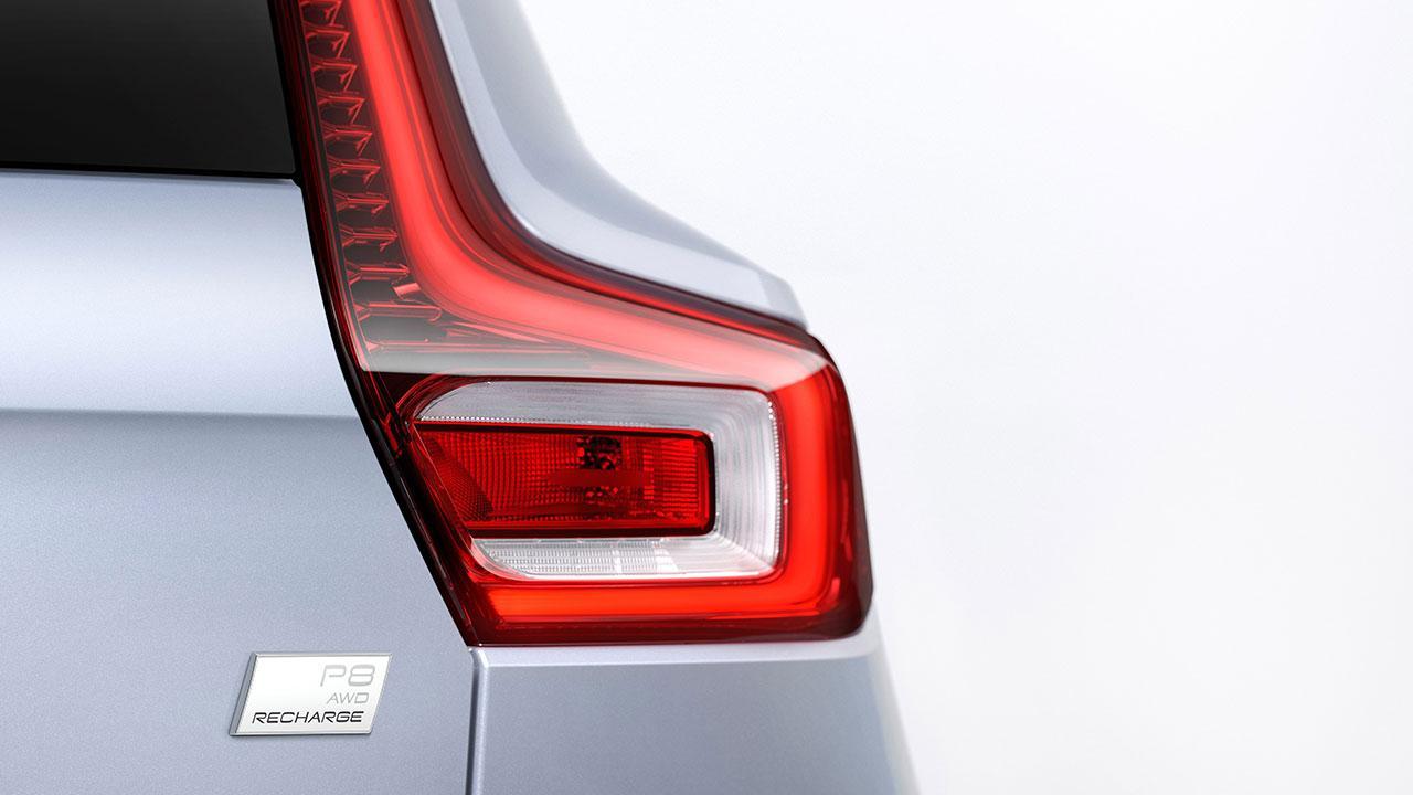 Volvo XC40 Recharge - Rücklicht mit Schriftzug