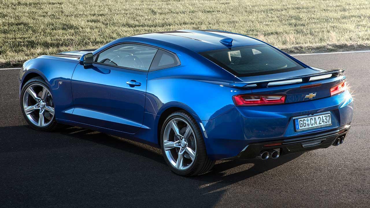 Chevrolet Camaro V8 - Vogelperspektive
