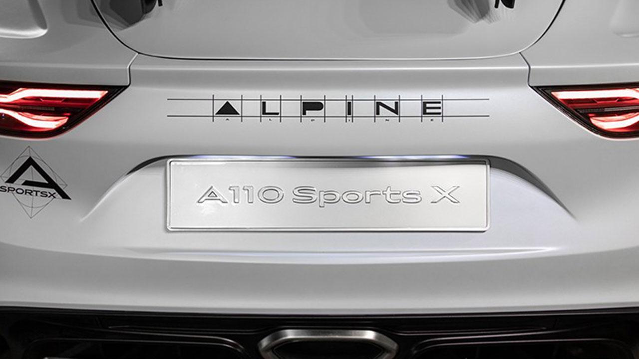 Alpine A110 Sports X - Heck