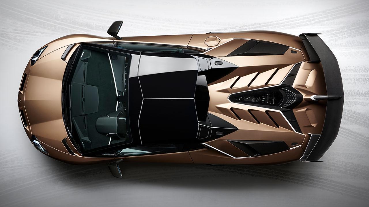 Lamborghini Aventador SVJ Roadster - Vogelperspektive