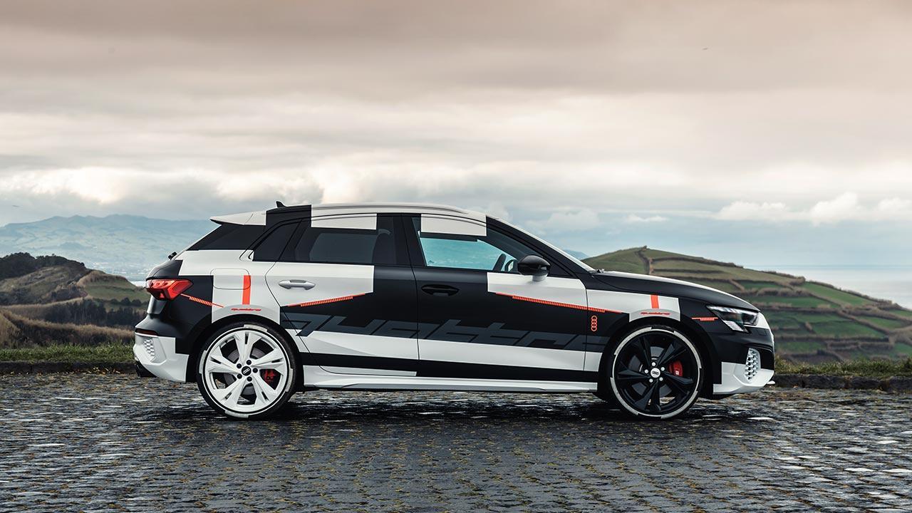 Audi A3 Sportback Prototyp  - Seitenansicht