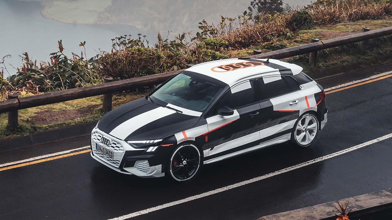 Audi A3 Sportback Prototyp  - Vogelperspektive