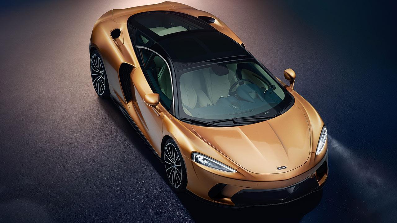 McLaren New GT - Vogelperspektive
