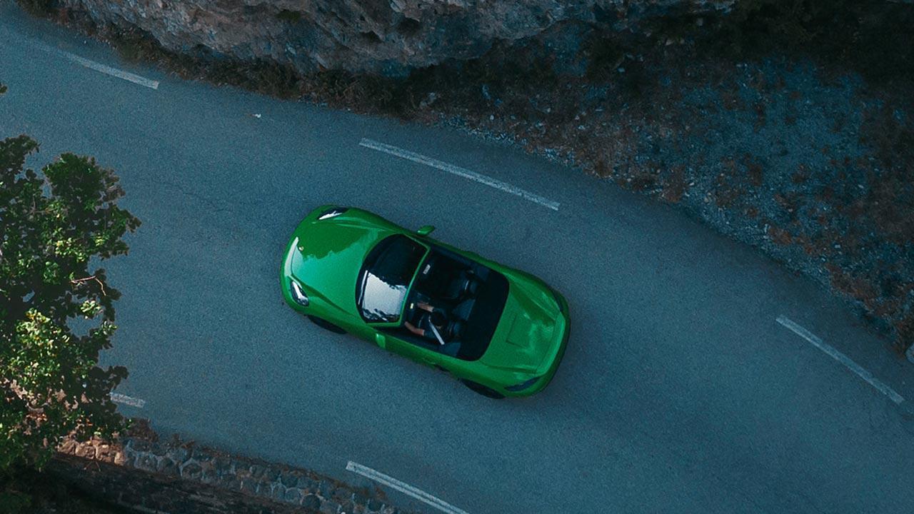 Porsche 718 Boxster GTS 4.0 - Vogelperspektive