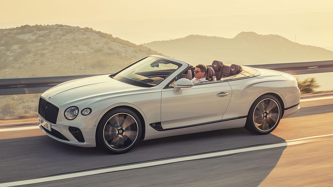 Bentley Continental GT Convertible W12 - in voller Fahrt