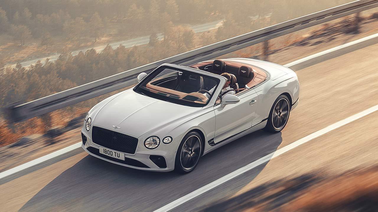 Bentley Continental GT Convertible W12 - Vogleperspektive