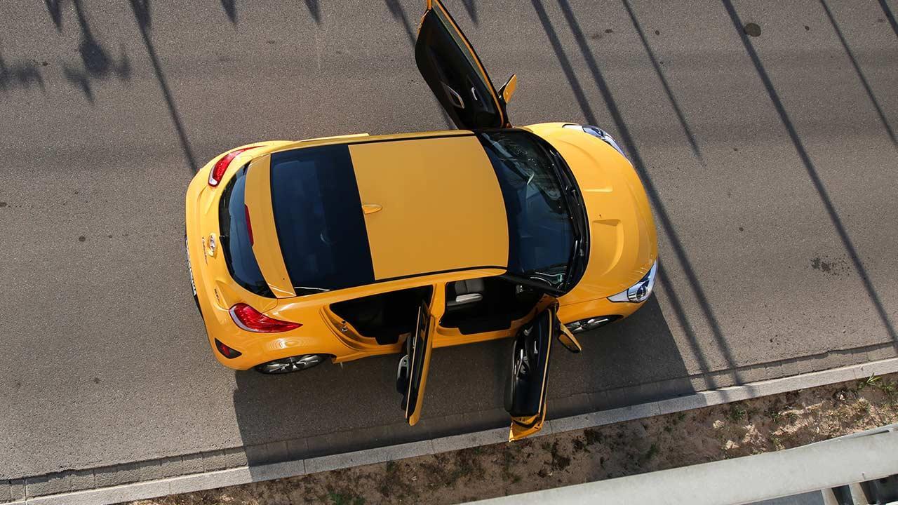 Hyundai Veloster - Vogelperspektive