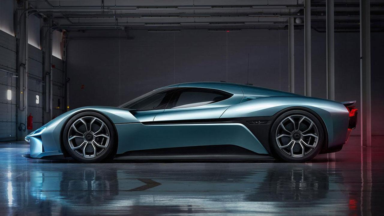NIO eP9 - in Silber