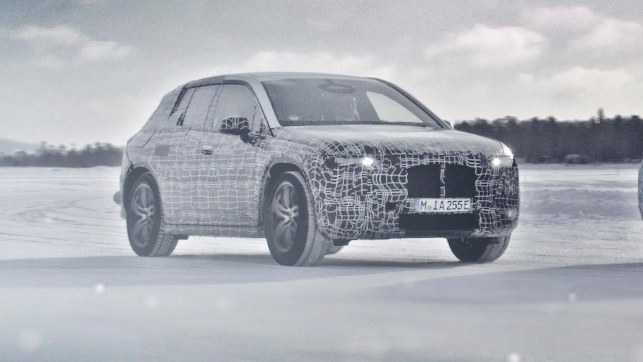 BMW iX3 - auf dem Eis