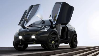 Kia Niro Concept - mit offenen Flügeltüren