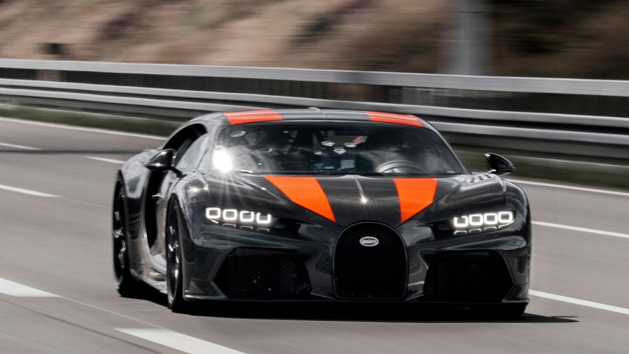 Bugatti Chiron Super Sport 300+ - in voller Fahrt