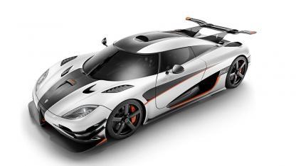 Koenigsegg One:1 - seitliche Frontansicht