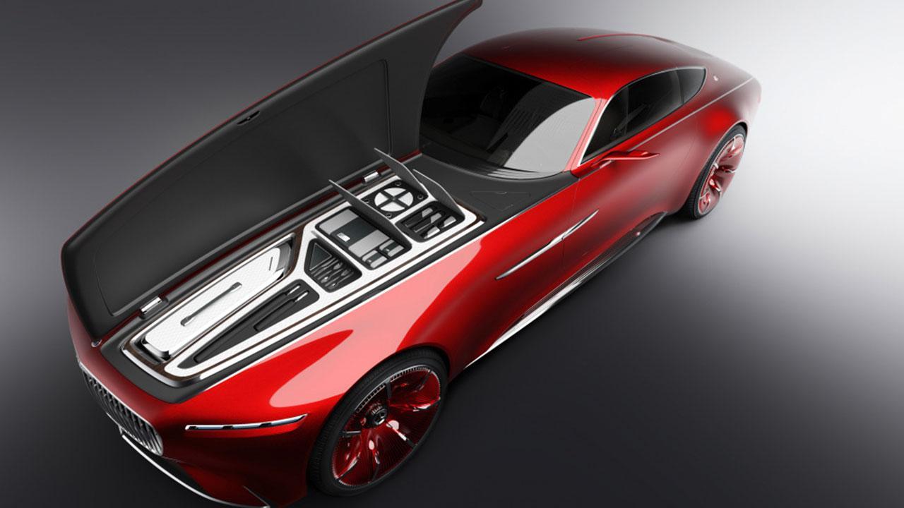 Vision Mercedes-Maybach 6 - mit offener Kofferraumdeckel