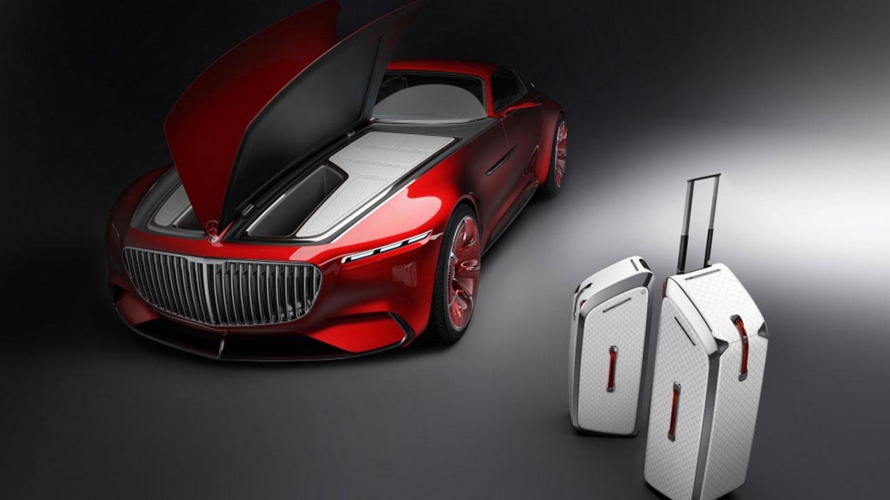 Vision Mercedes-Maybach 6 - Frontansicht mit passenden Koffer
