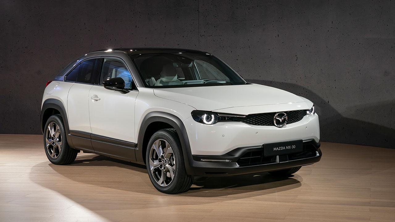 Mazda MX-30 - seitliche Frontansicht