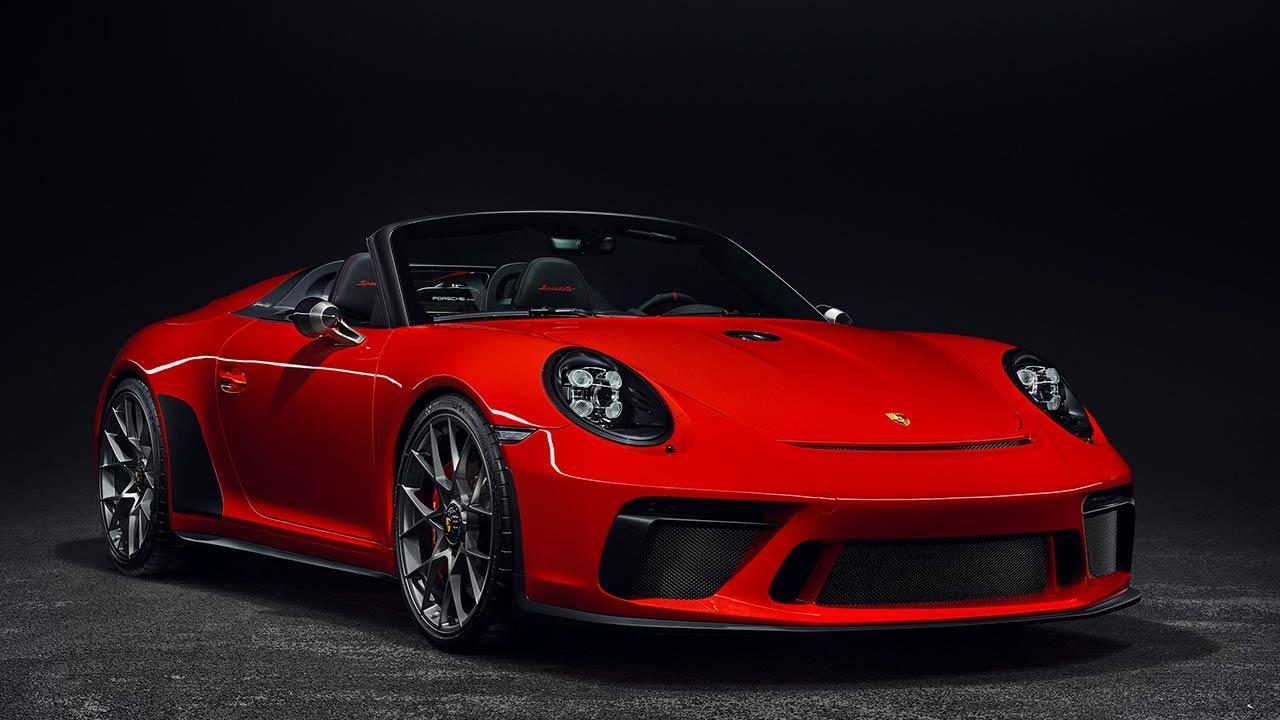 Porsche 911 Speedster - seitliche Frontansicht
