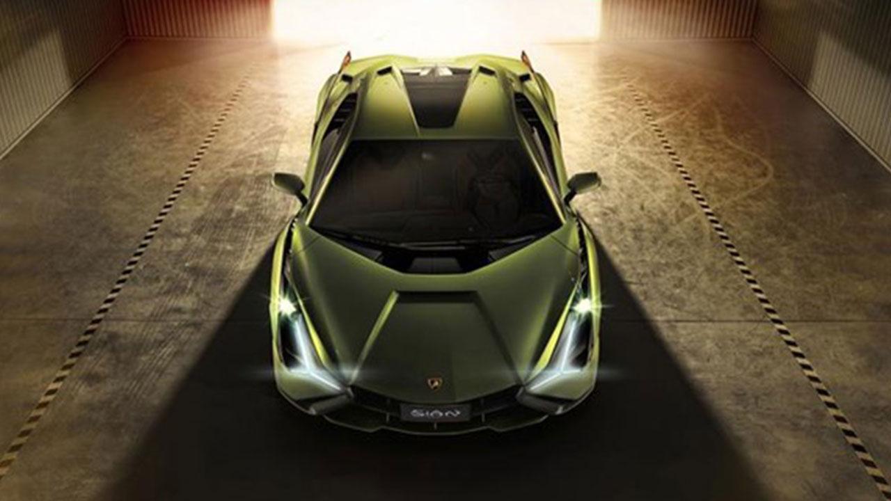 Lamborghini Sian - Vogelperspektive