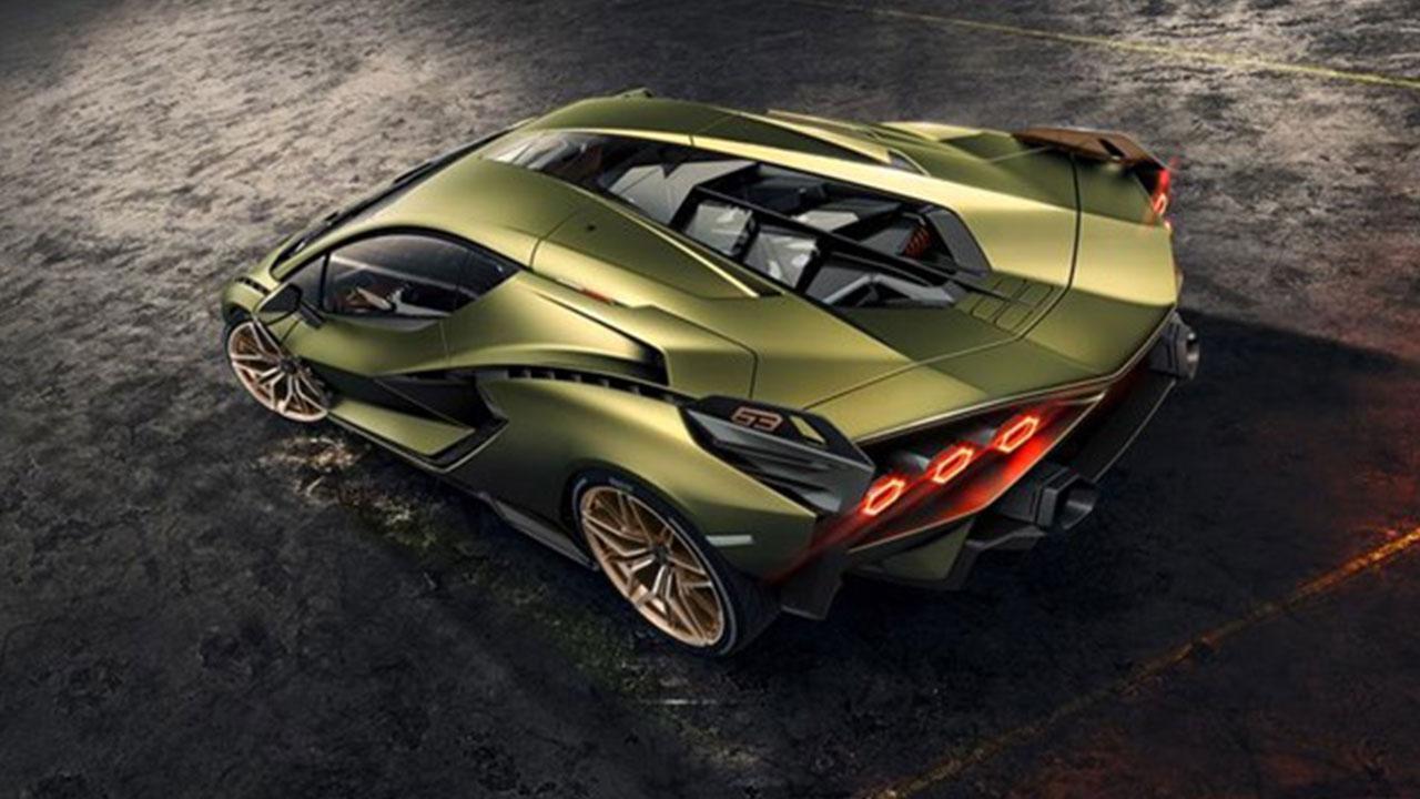 Lamborghini Sian - von oben