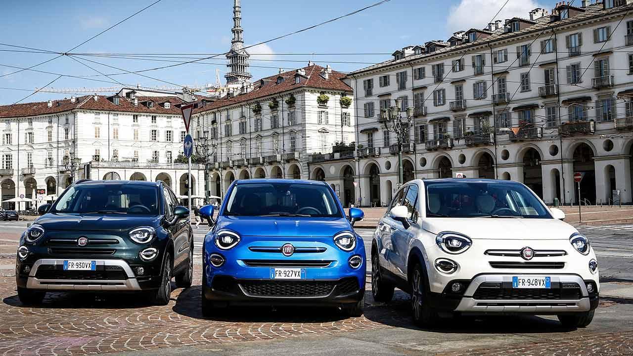 Fiat 500X - verschiedene Farben