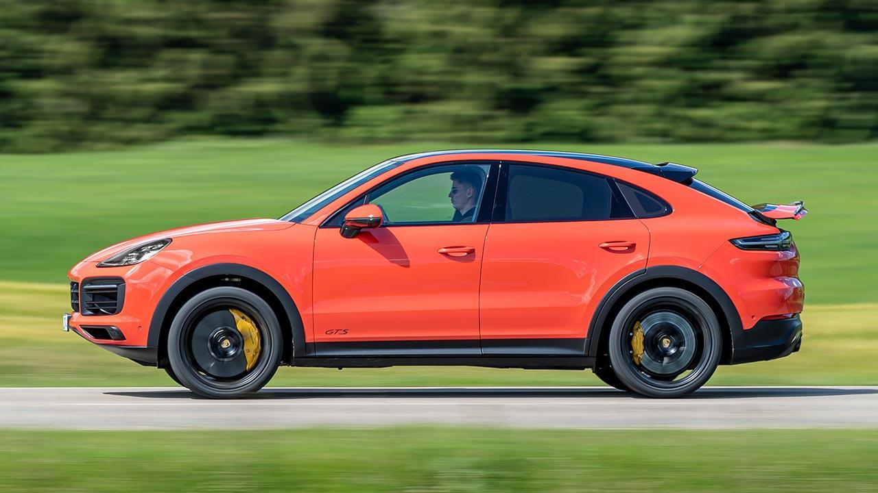Porsche Cayenne GTS Coupé - in voller Fahrt