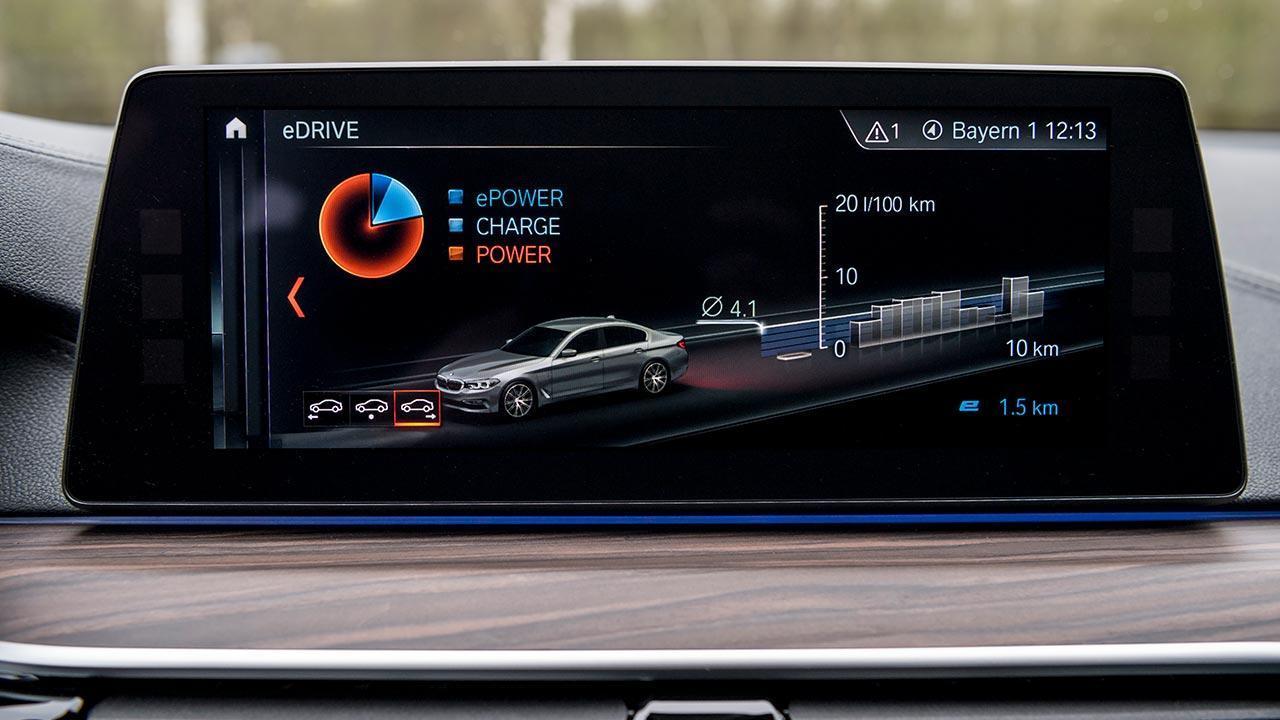 BMW 530e iPerformance - Display