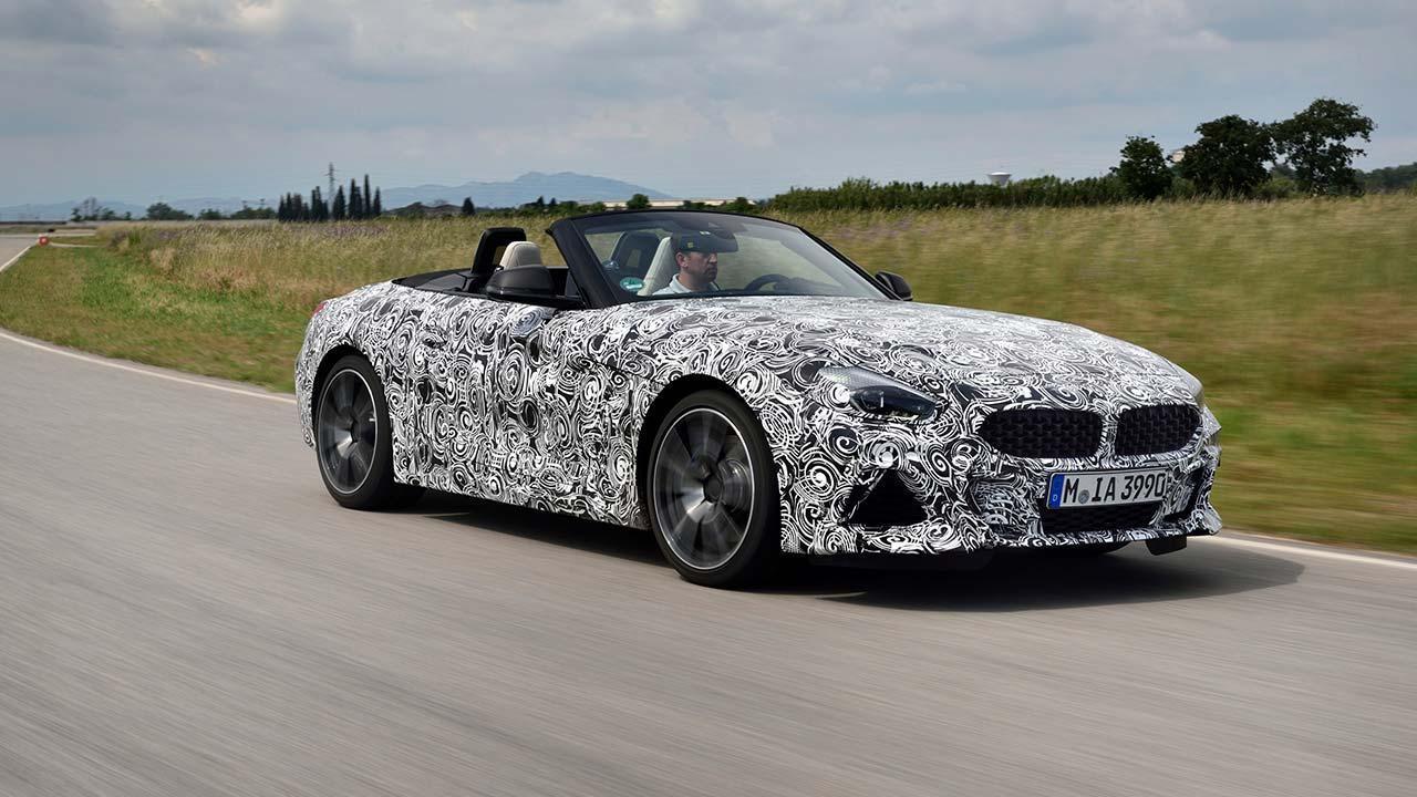 BMW Z4 2018 - Frontansicht mit offenen Verdeck