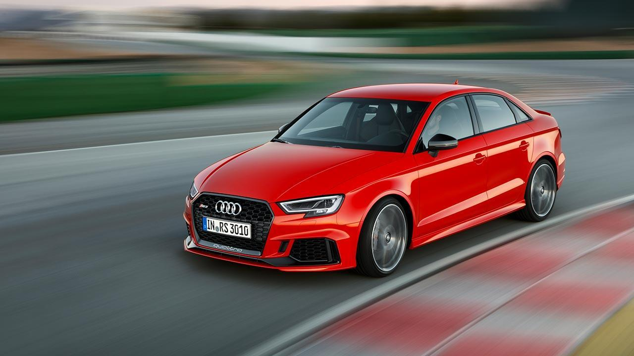Audi RS 3 Limousine 2017 - Rennstrecke von Vorne