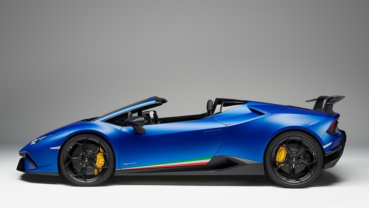 Lamborghini Huracán Performante Spyder - Seitenansicht