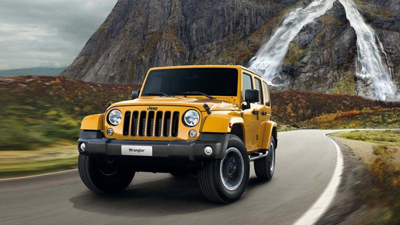 Jeep Wrangler - auf der Landstrasse