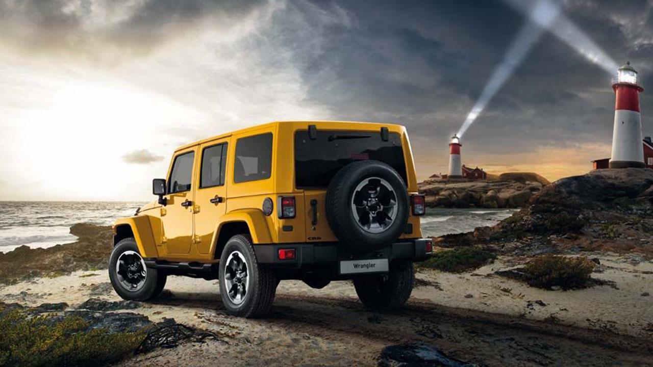 Jeep Wrangler - an der Küste