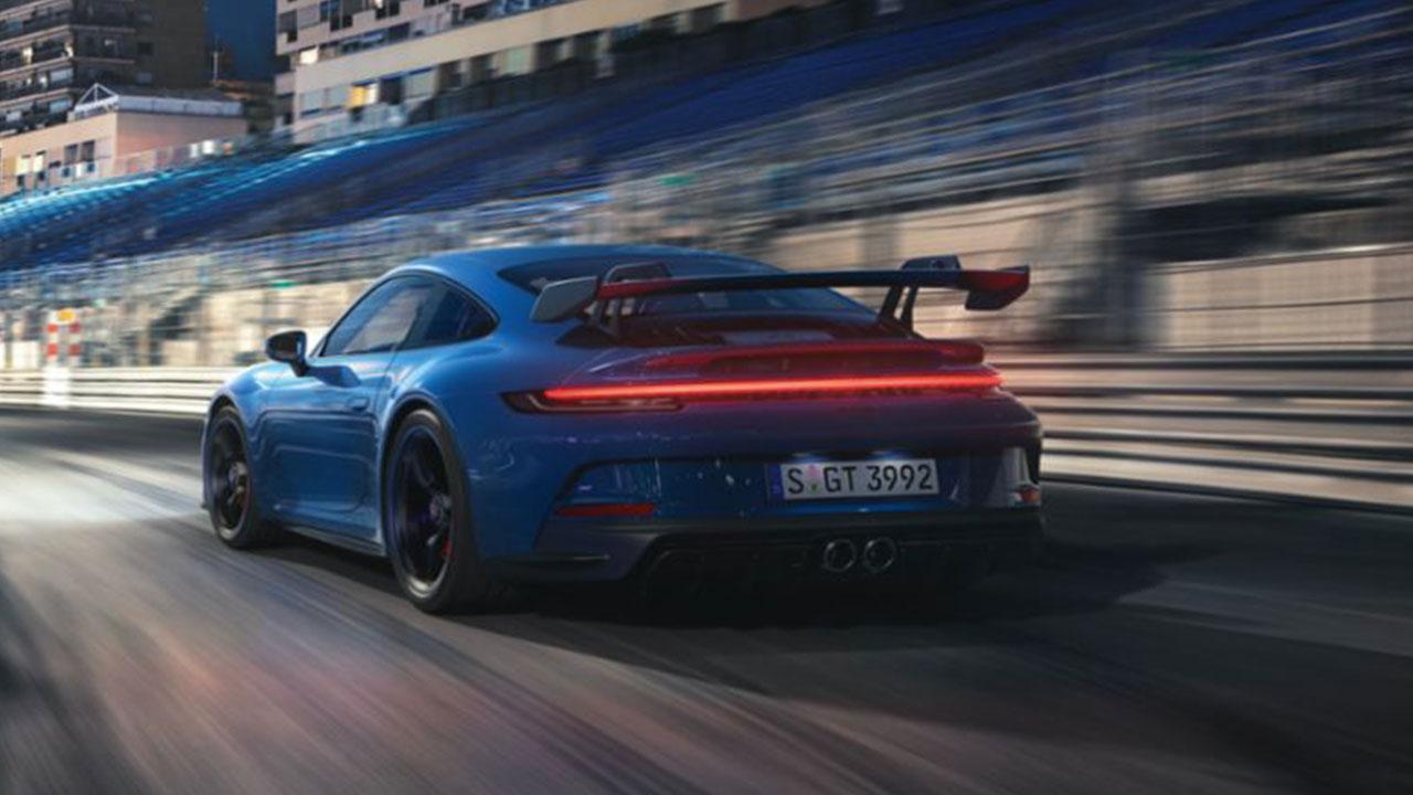 Weltpremiere des neuen Porsche 911 GT3 - Heckansicht