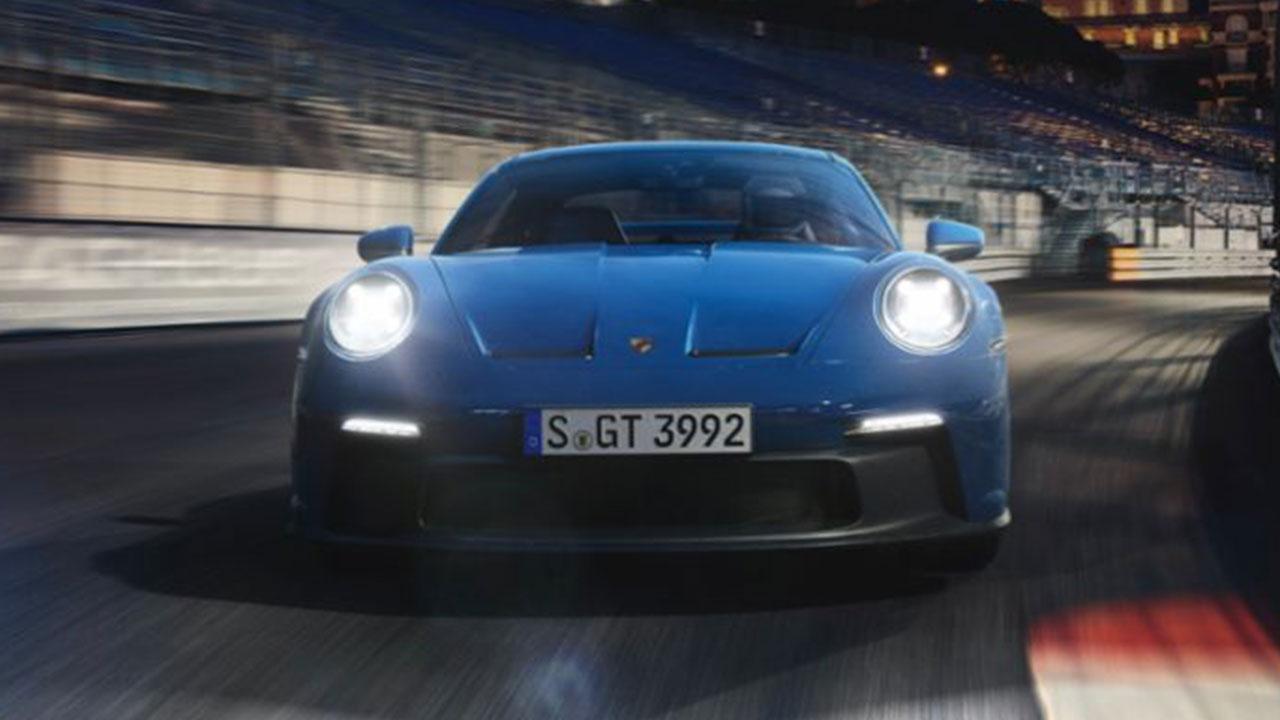 Weltpremiere des neuen Porsche 911 GT3 - Frontansicht