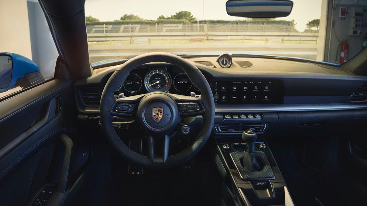 Weltpremiere des neuen Porsche 911 GT3 - Cockpit