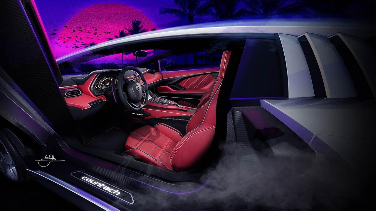 Lamborghini Countach LPI 800-4 - Cockpit