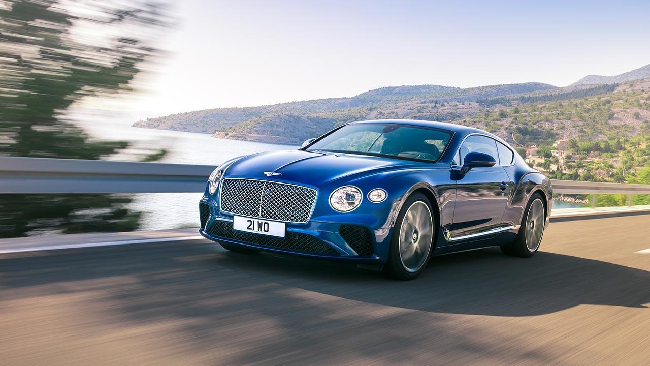 Bentley Continental GT - in voller Fahrt