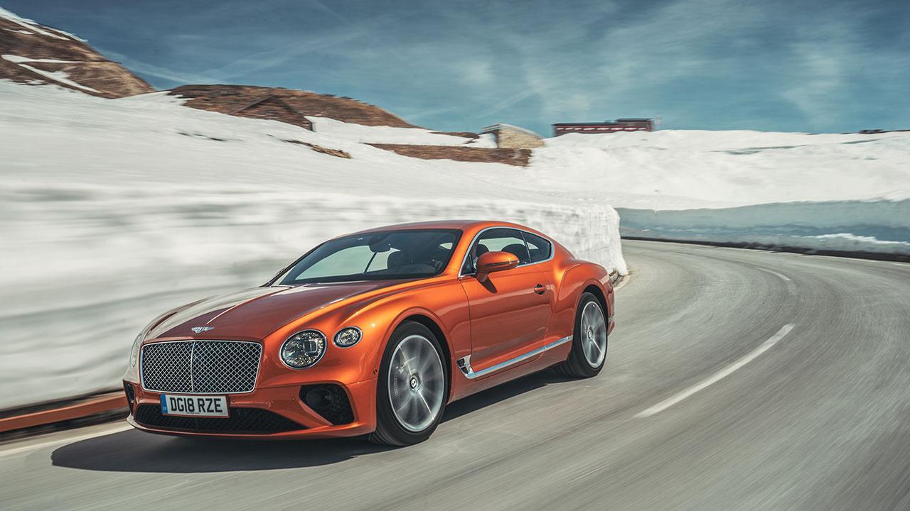 Bentley Continental GT - am Gletscher