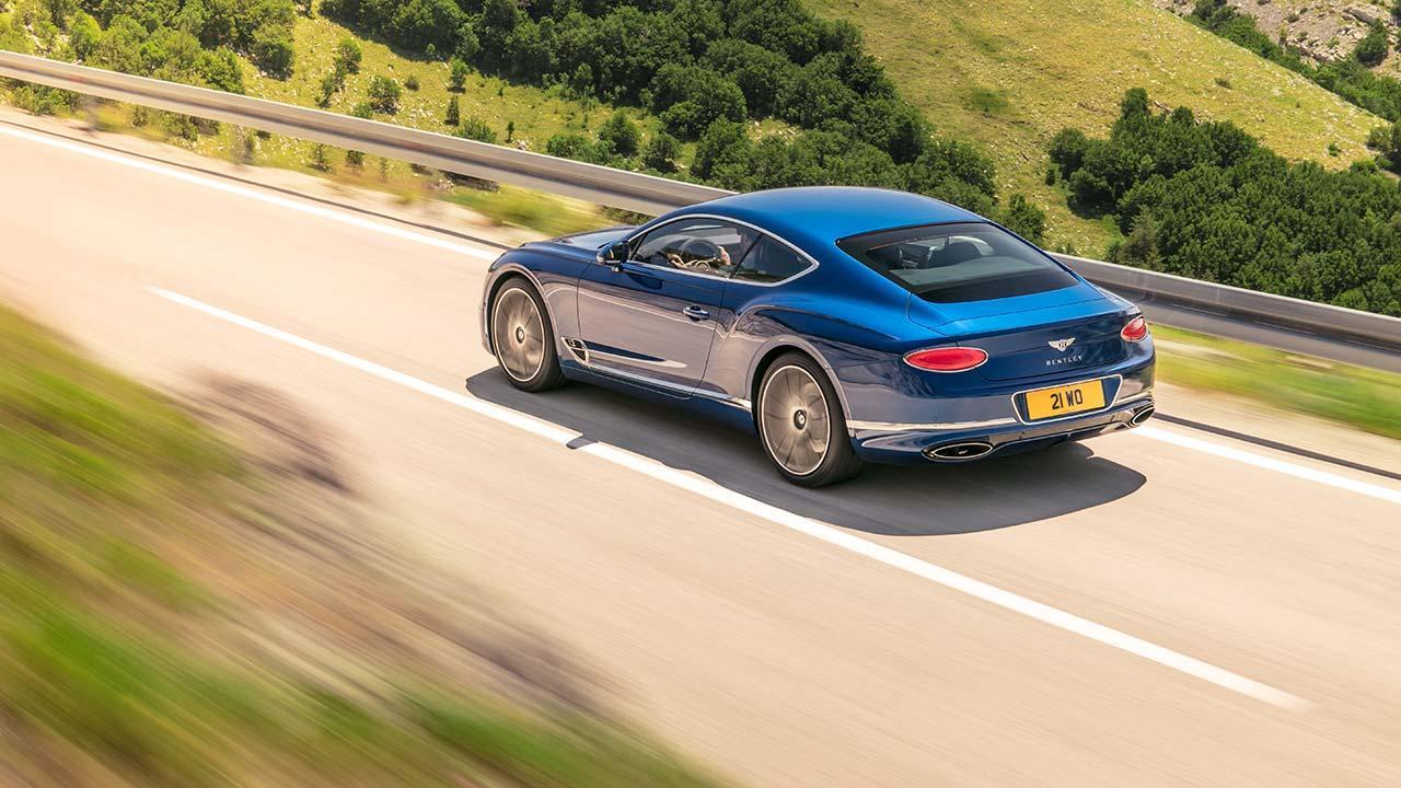 Bentley Continental GT - seitliche Rückansicht